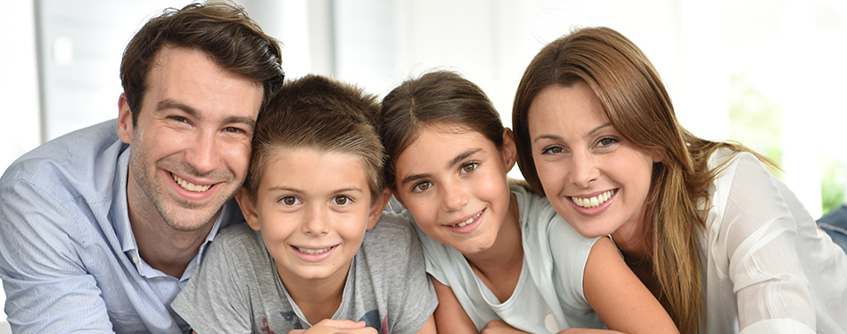 Family after having orthodontics